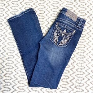 Miss Me Signature Boot Embellished Jeans Siz 26/33
